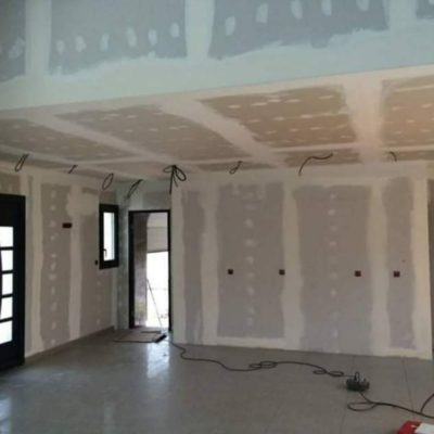 Cloison faux plafond BA13