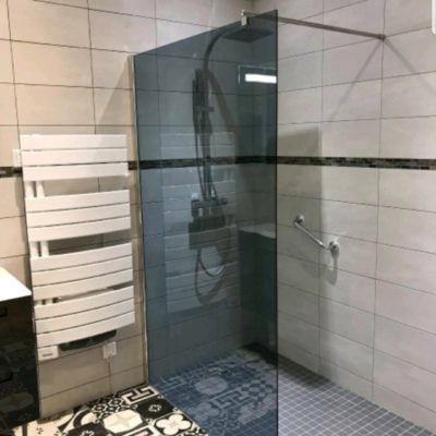 Création sdb renovation refection douche italienne baignoire